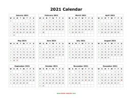 Download Calendar 2021 Blank Calendar 2021 | Free Download Calendar Templates