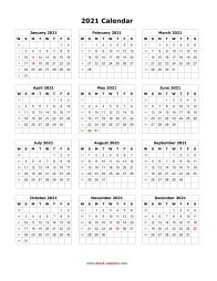 blank calendar 2021 yearly calendar blank portrait