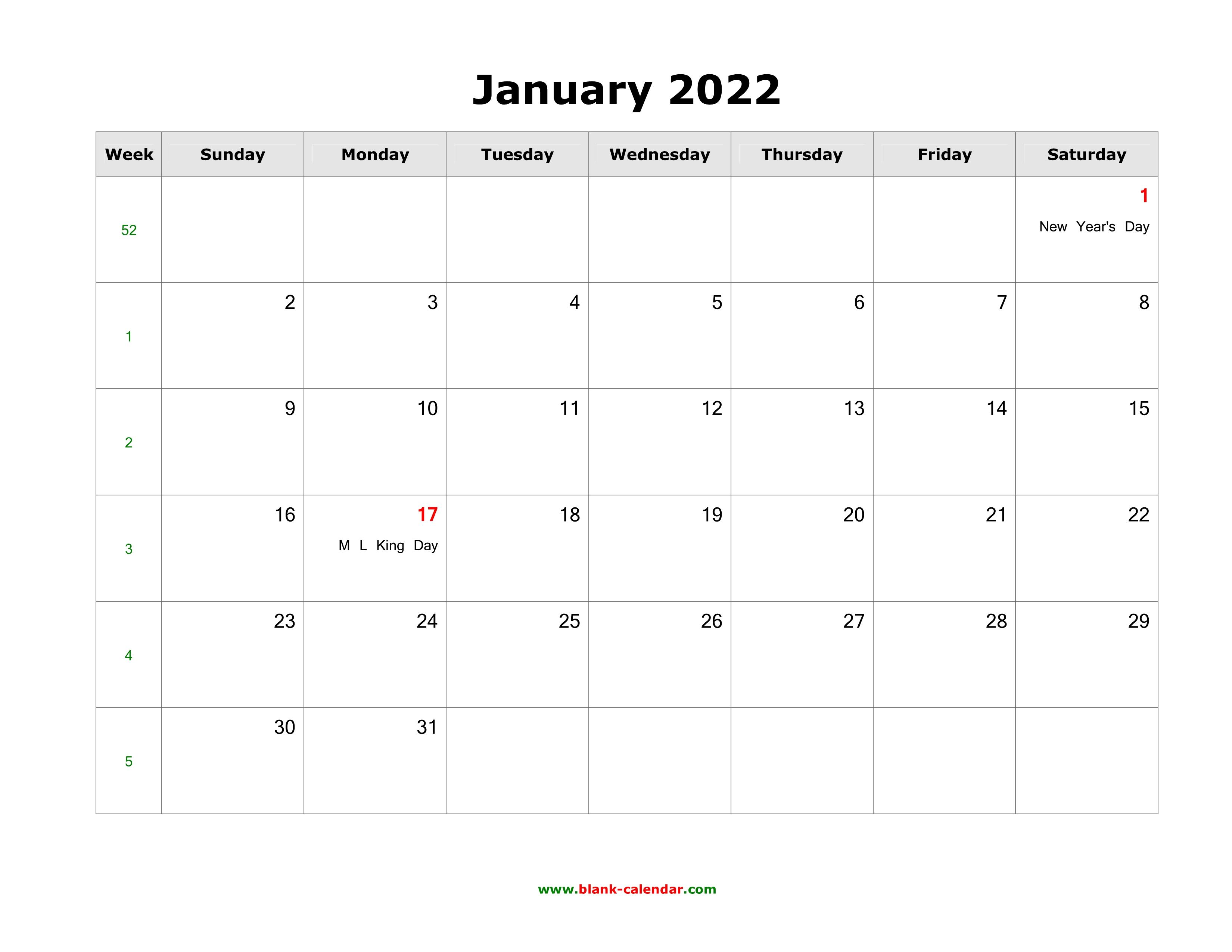 January 2022 Blank Calendar.January 2022 Blank Calendar Free Download Calendar Templates