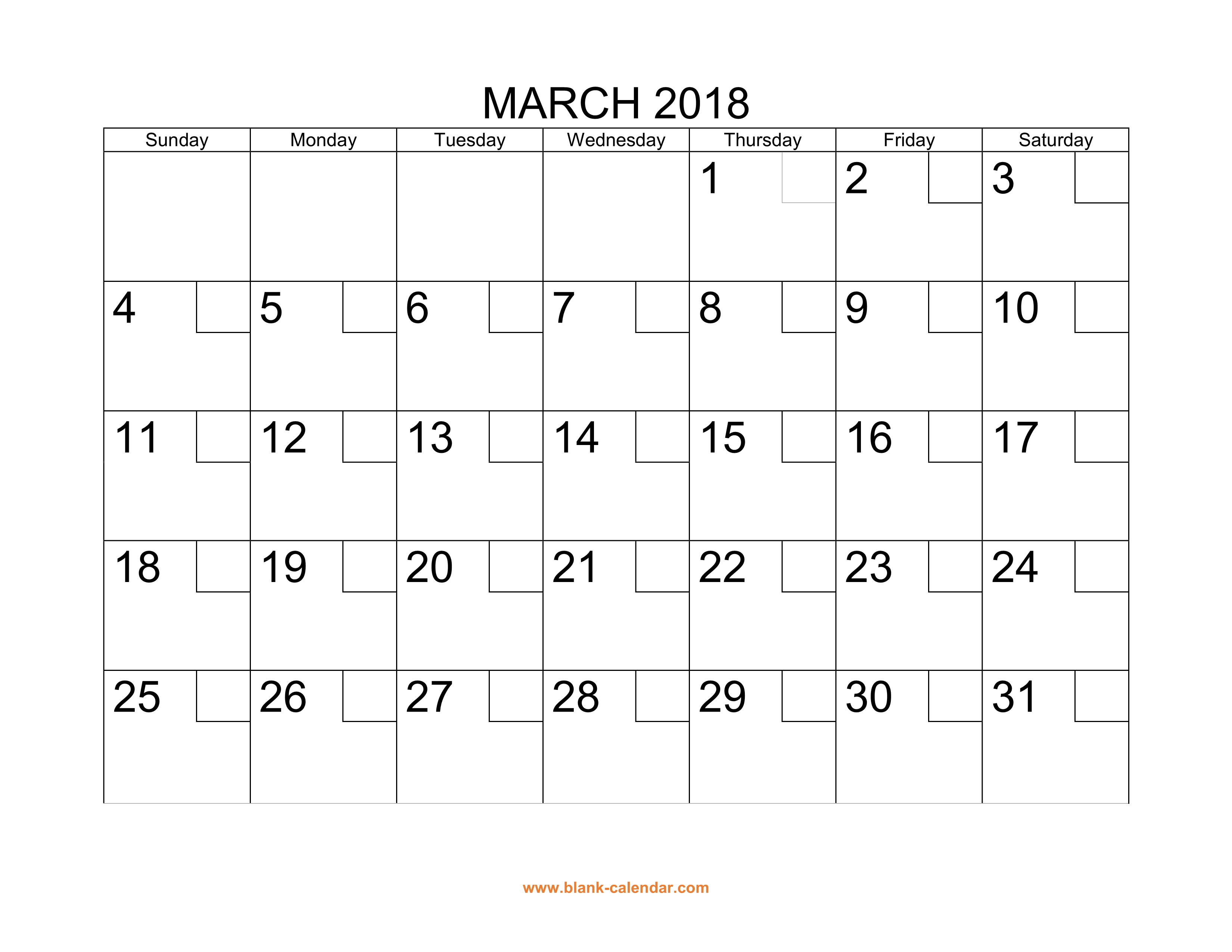 free download printable march 2018 calendar with check boxes