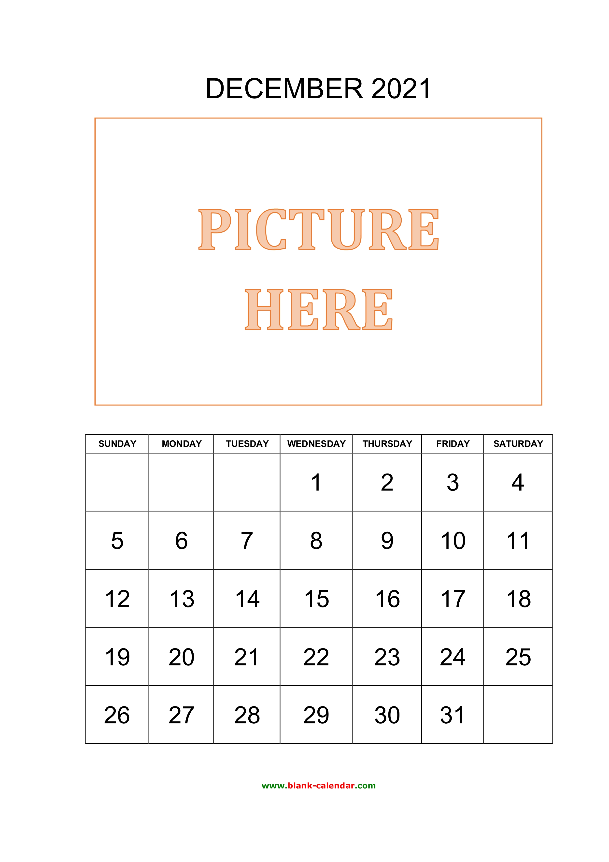 Free Download Printable December 2021 Calendar Pictures Can Be