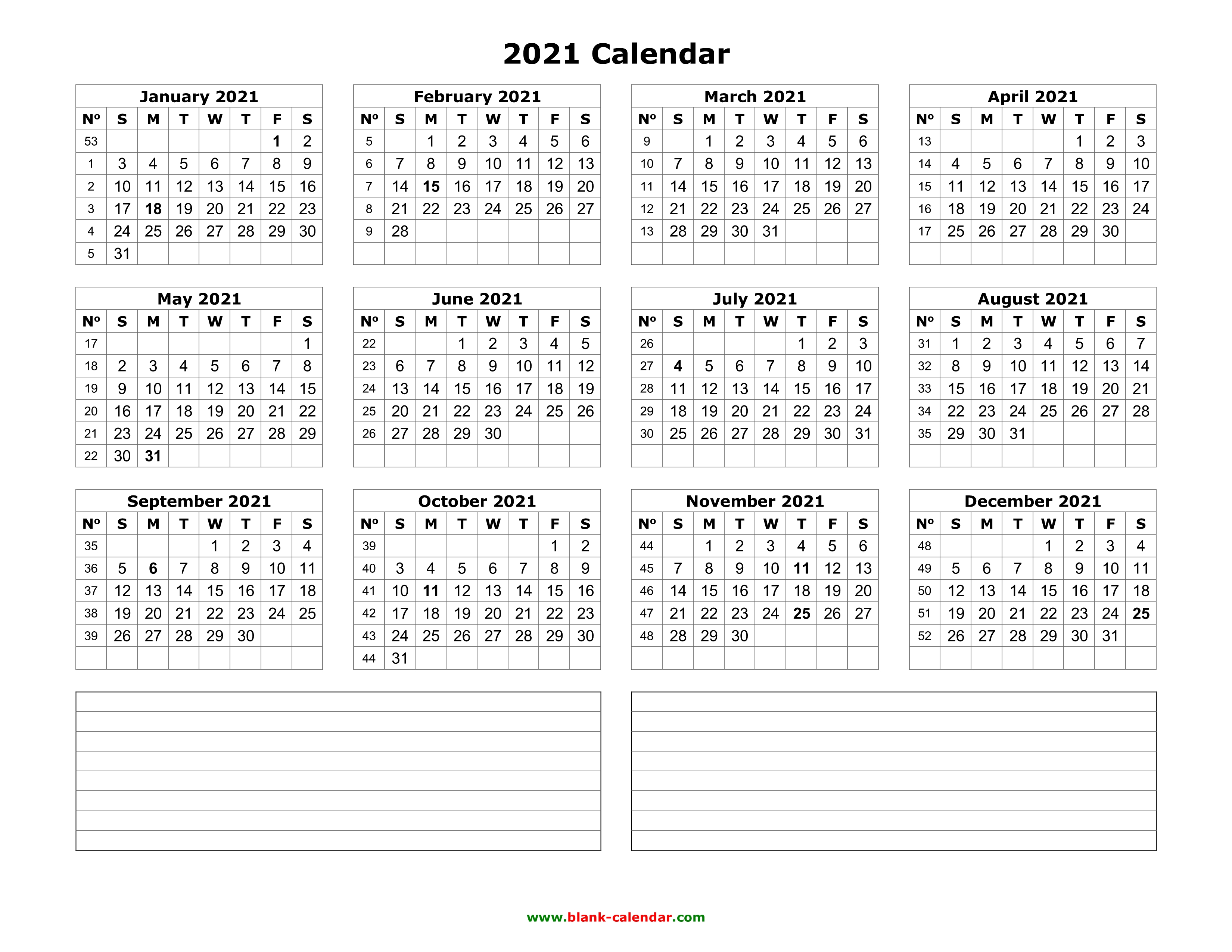 FREE Blank 2019 Calendar Templates   Download Now   Face ...