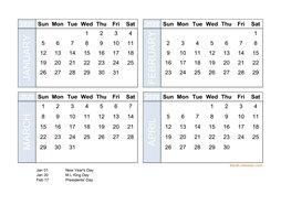 4 Month Calendar 2020 2020 Excel Calendar | Free Download Excel Calendar Templates