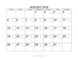 printable august 2018 calendar check boxes