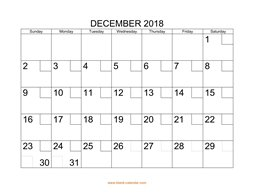 printable december 2018 calendar check boxes