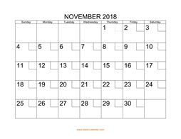 printable november 2018 calendar check boxes