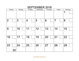 printable september 2018 calendar check boxes