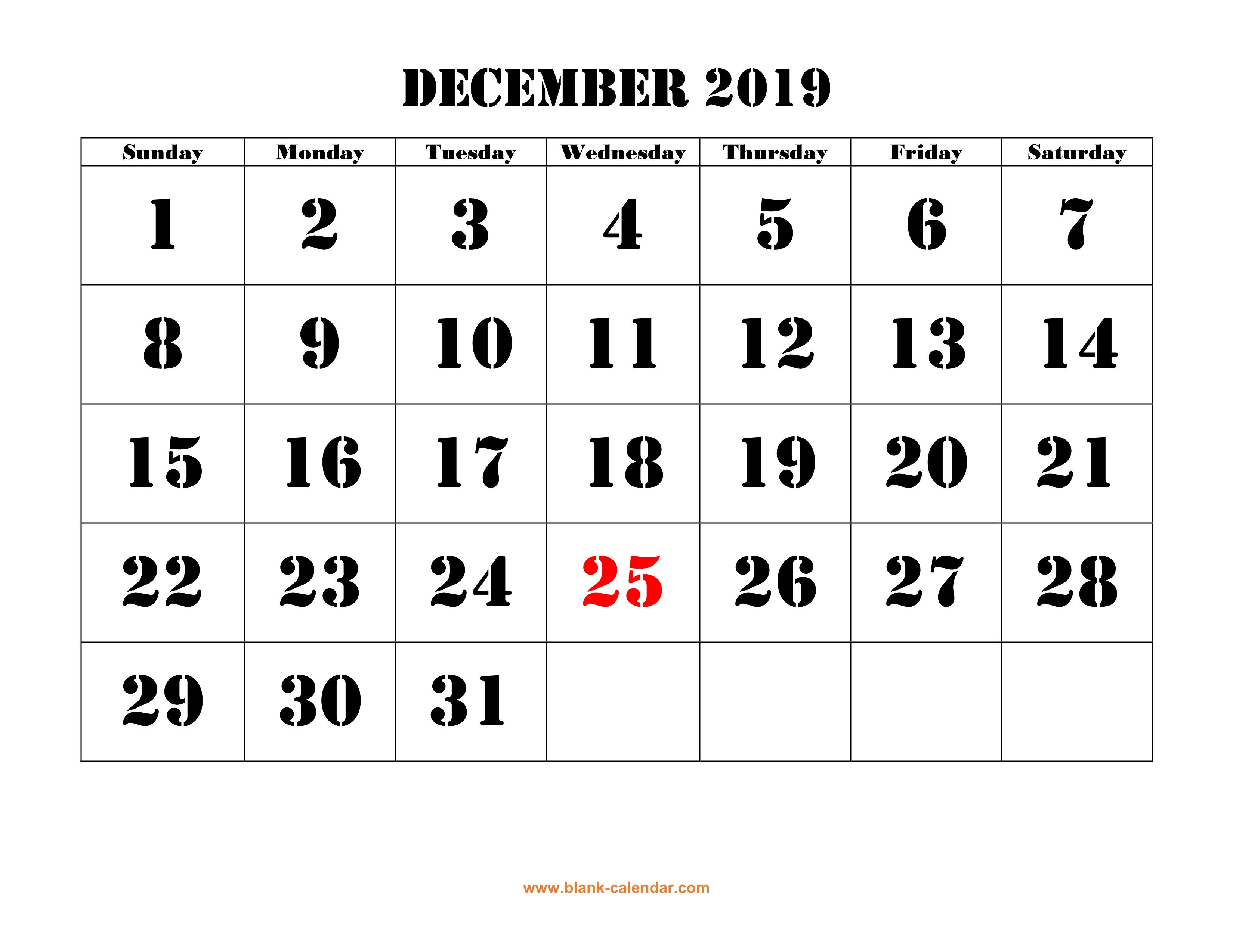photo relating to Printable Calendar Dec identify December 2019 Printable Calendar Absolutely free Down load Regular monthly