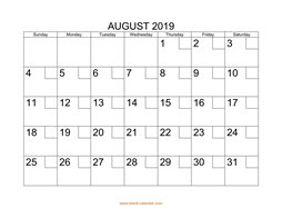 printable august calendar 2019 check boxes