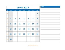 Blank June 2019 Printable Calendar.June 2019 Printable Calendar Free Download Monthly Calendar Templates