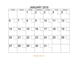 printable calendar 2019 check boxes