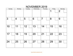 printable november 2019 calendar check boxes