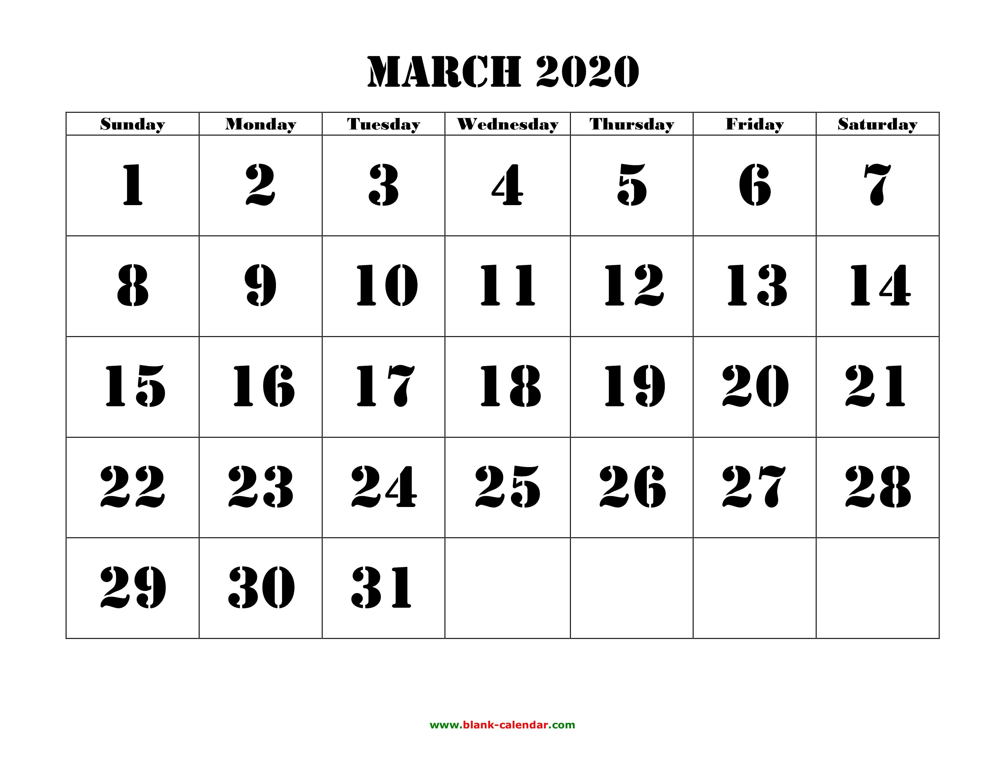photograph regarding March Calendar Printable named March 2020 Printable Calendar Totally free Obtain Every month