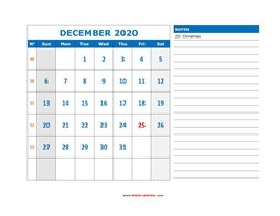 December 2020 Appointment Calendar Template December 2020 Printable Calendar | Free Download Monthly Calendar