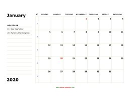 Printable January 2020 Calendar Word January 2020 Printable Calendar | Free Download Monthly Calendar