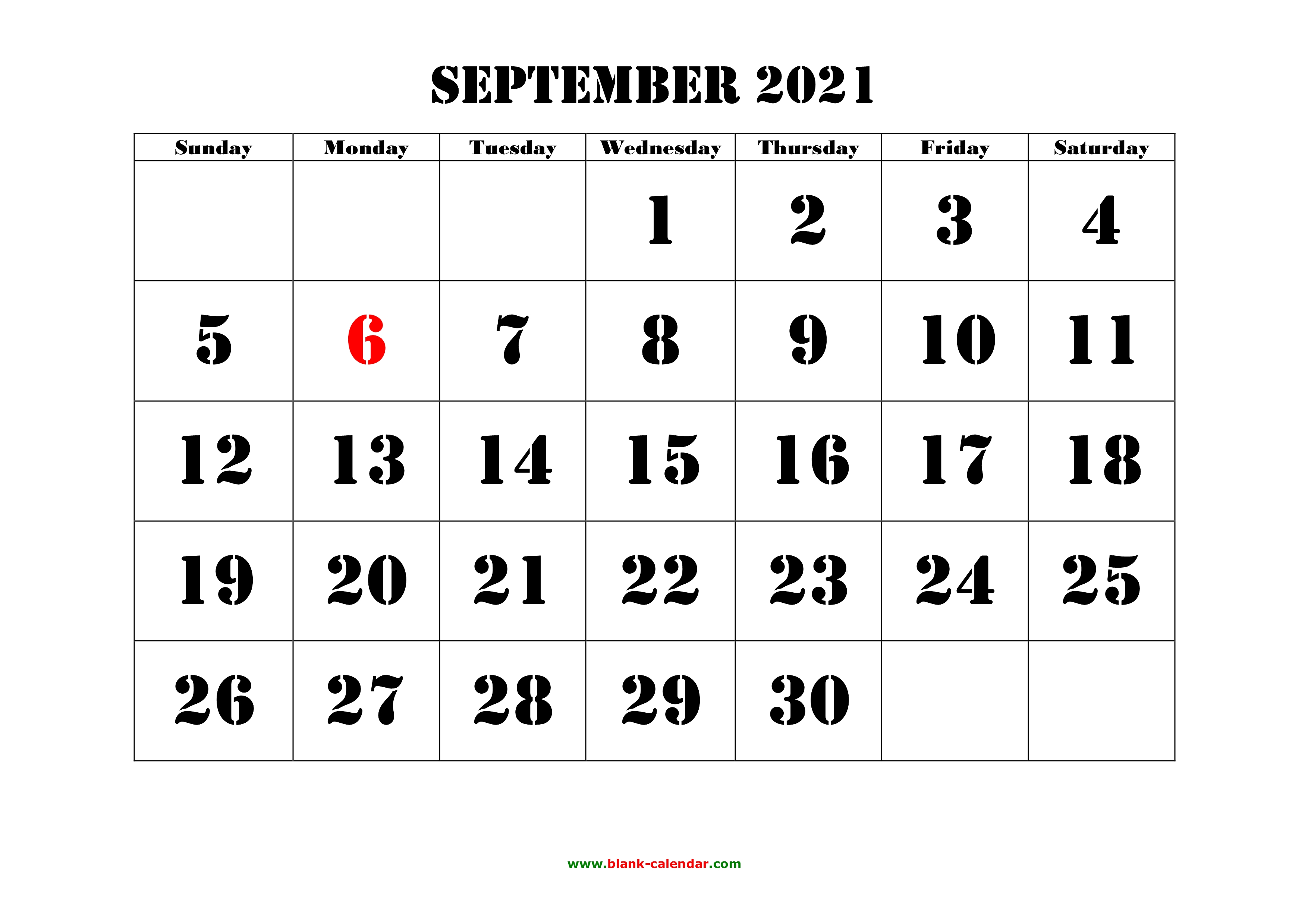 Free Calendar September 2021 | Calendar 2021