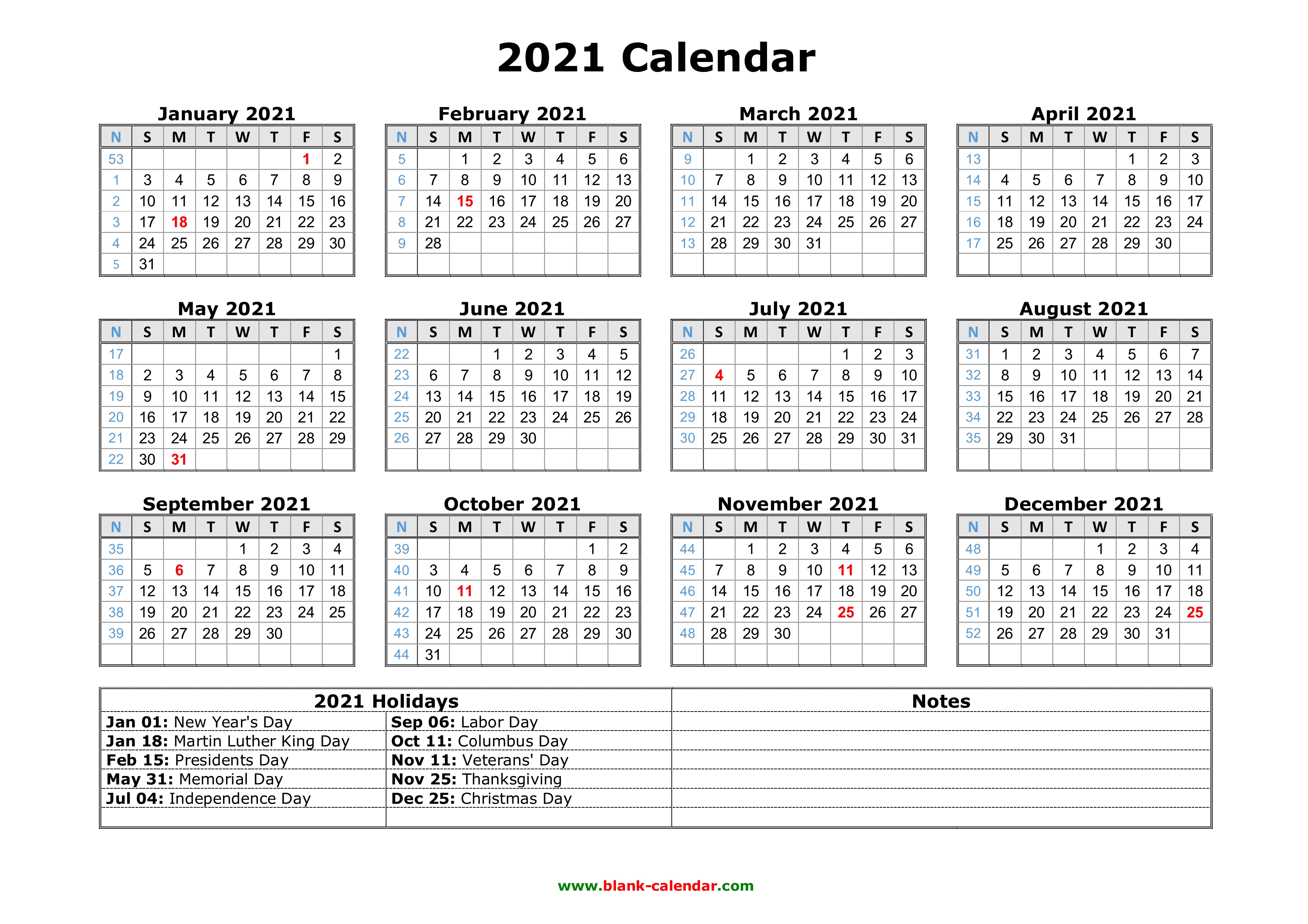 Calendar For 2021 With Holidays And Ramadan - swankheight