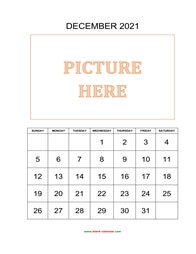 printable december calendar 2021 add picture