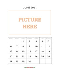 printable june calendar 2021 add picture