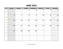 printable june calendar 2021 large box grid