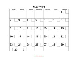 printable may 2021 calendar check boxes