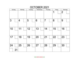 printable october 2021 calendar check boxes