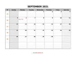 printable september calendar 2021 large box grid