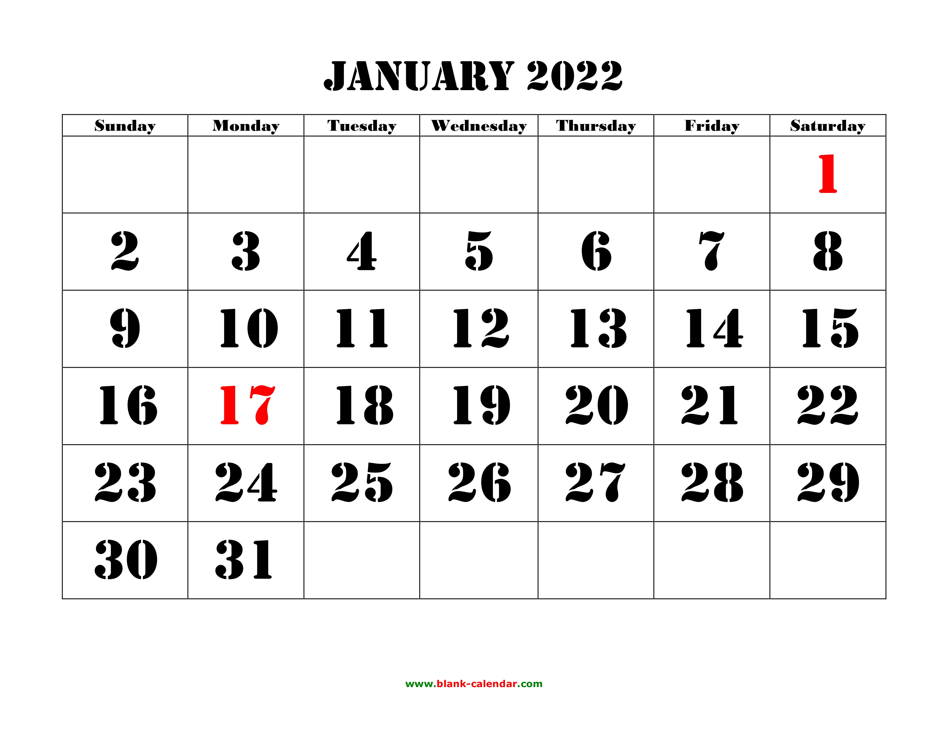 Blank Calendar For May 2022.Free Download Printable Calendar 2022 Large Font Design Holidays On Red