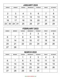 printable calendar 2022 3 months per page