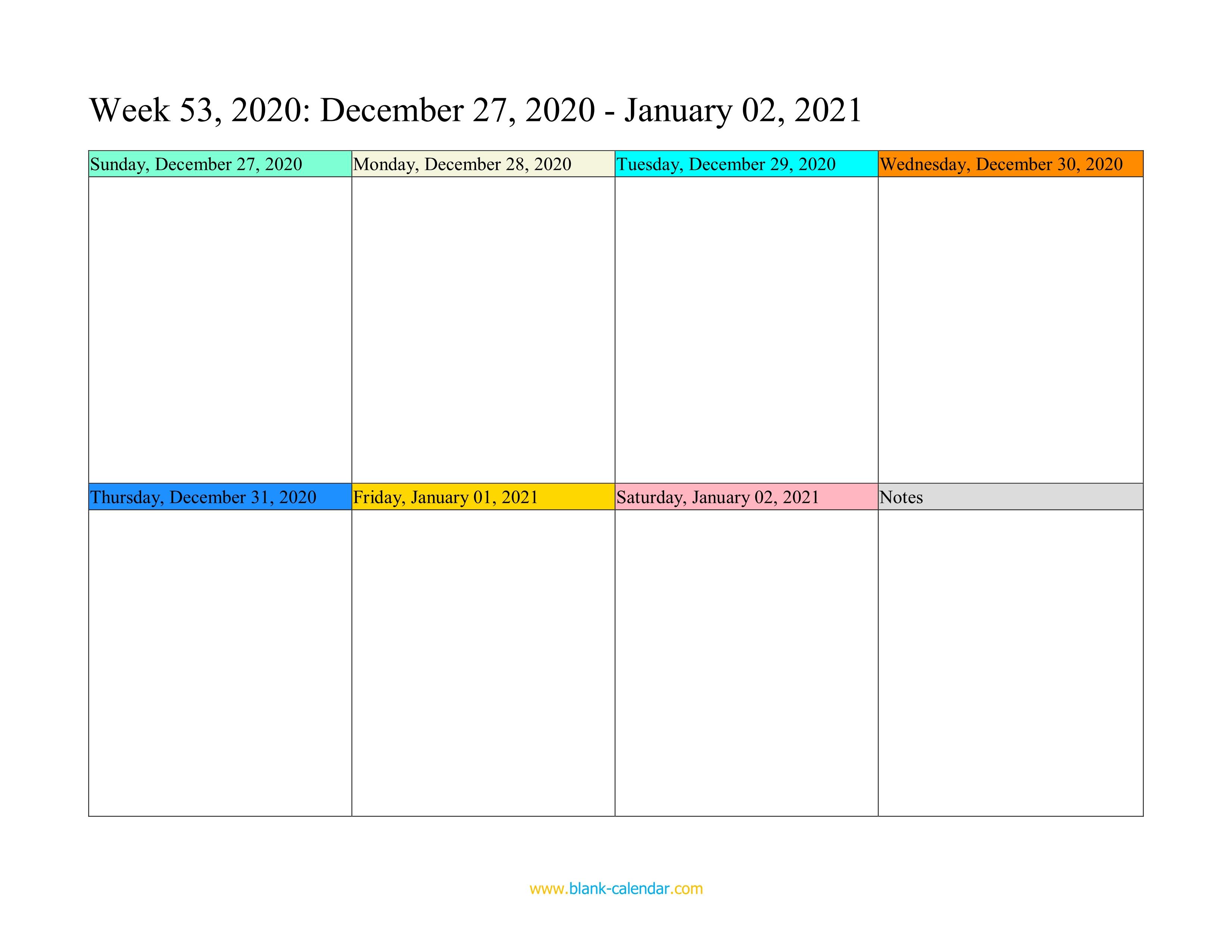 2022 Weekly Calendar Excel.Weekly Calendar 2021 Word Excel Pdf