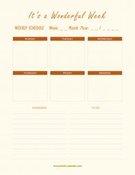 weekly schedule planner template 06
