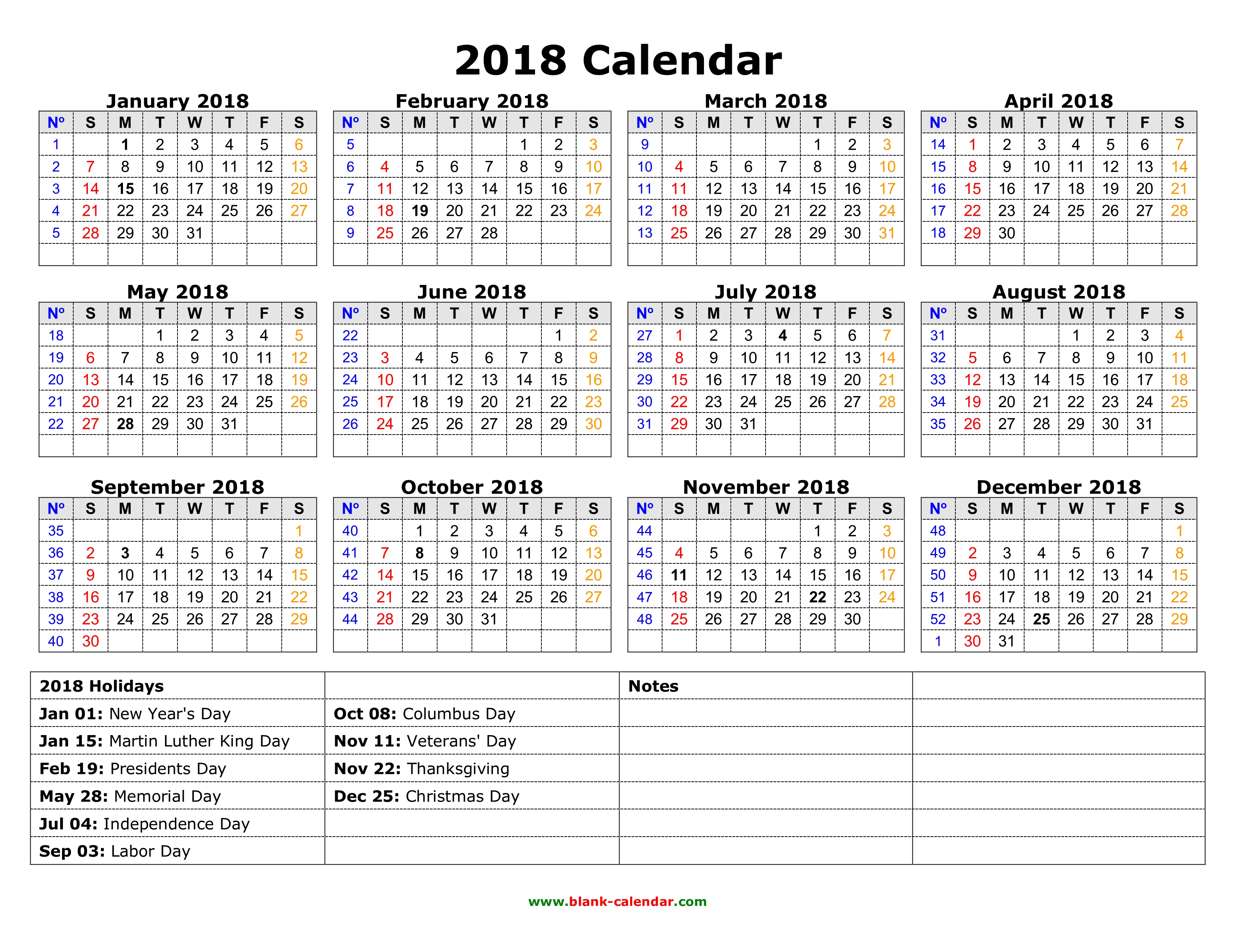 Year Calendar Download Free : Yearly calendar free download and print