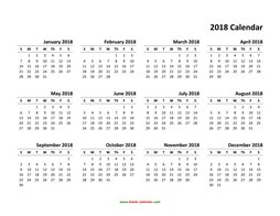 yearly calendar 2018 template 01