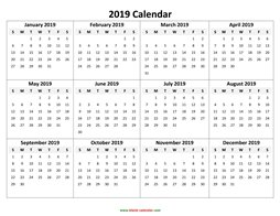 yearly calendar 2019 template 05