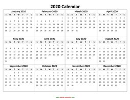 yearly calendar 2020 template 05