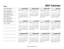 yearly calendar 2021 template 06